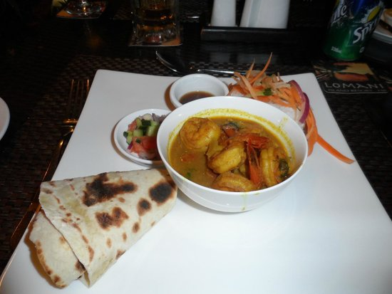 Lomani Island Resort: Prawn curry, yummy