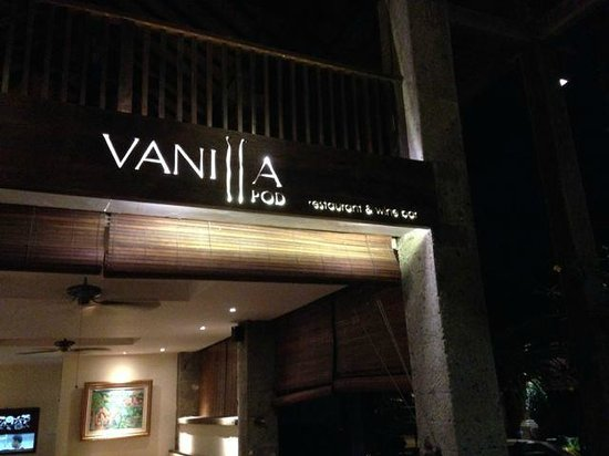 Vanilla Pod Restaurant : Outside signage