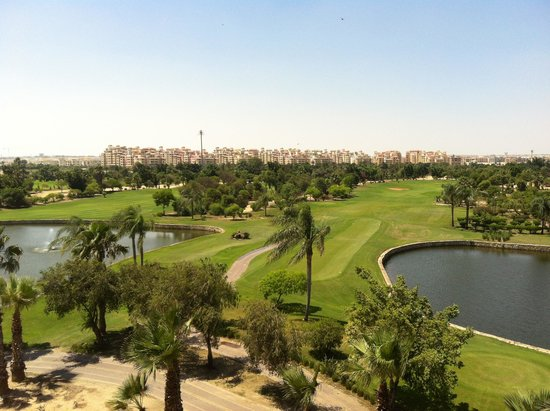 Hilton Pyramids Golf: View from terrace of executive lounge