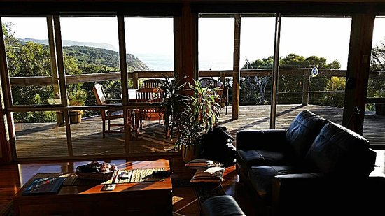 Sea Dragon Lodge: Spectacular morning sunshine in the lodge