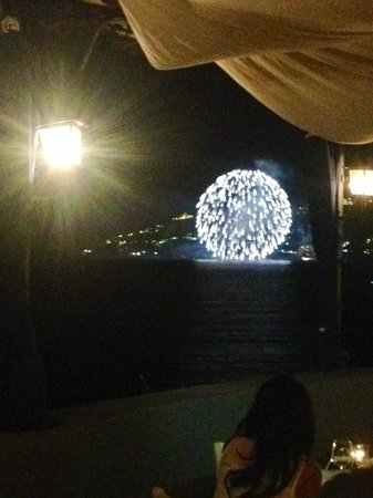 Torre Normanna Restaurant: Fireworks!