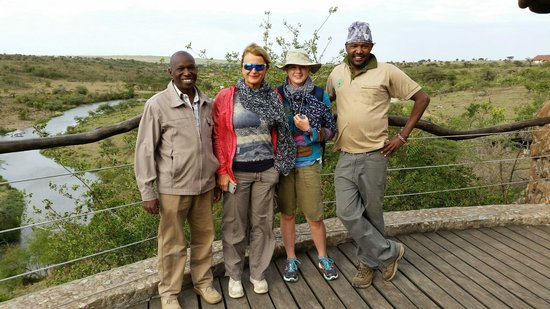 Amani Mara Camp: Godfrey on the left and Jeremy 2nd from the right