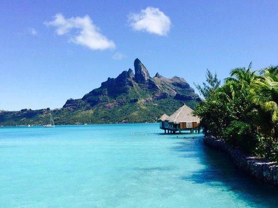 The St. Regis Bora Bora Resort : Looks just like it does on the Qantas website