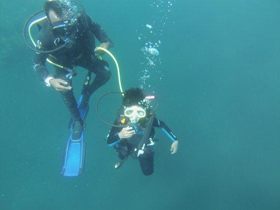 AquaMarine Diving - Bali: Veehan, my 8 year old