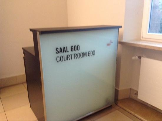Nuremburg Trial Courthouse: outside the room