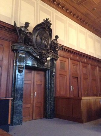 Nuremburg Trial Courthouse: door to the right is where acused walked in