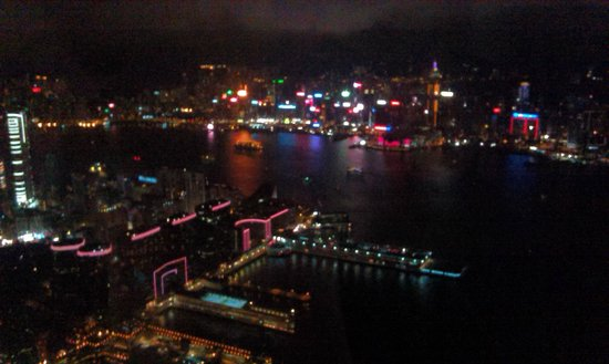 Sky100 Hong Kong Observation Deck: Night view of Hongkong
