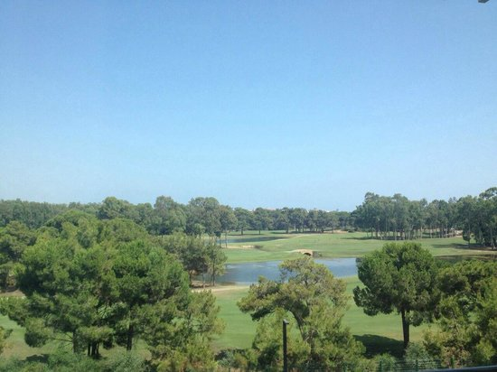 Titanic Deluxe: Golf course, view from the room