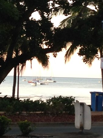 Whitsunday Seafood Bar : View from shop seating area