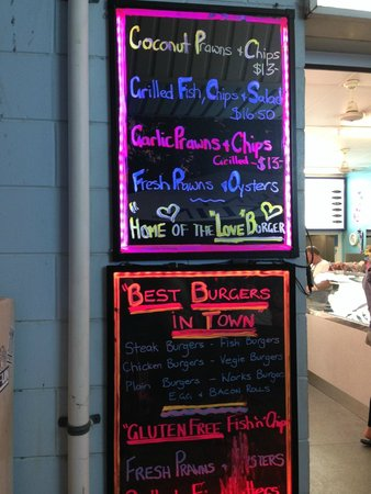Whitsunday Seafood Bar : Specials Menu
