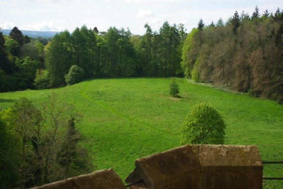 Dalhousie Castle: View from our room
