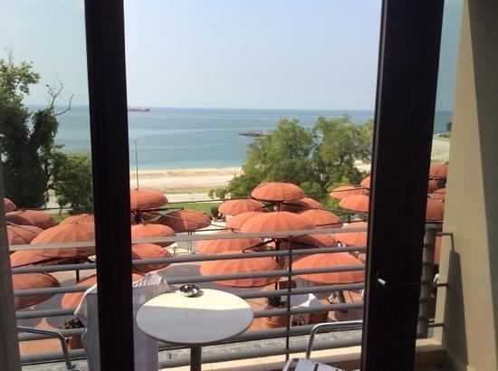 Cinar Hotel - first floor over looking Restaurant balcony area.