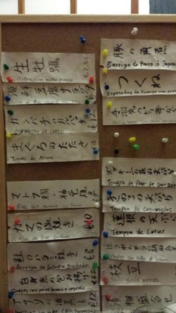 Bonsai Restaurante Japones: Menu