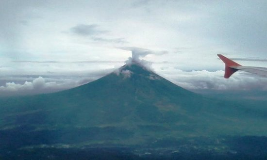 Mayon Volcano: Mayon as seen from the plane