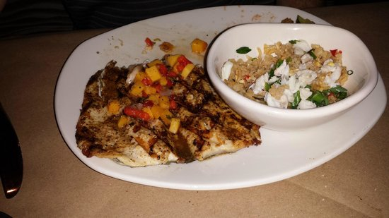Perch with crab fried rice picture of bonefish grill for Bone fish gril