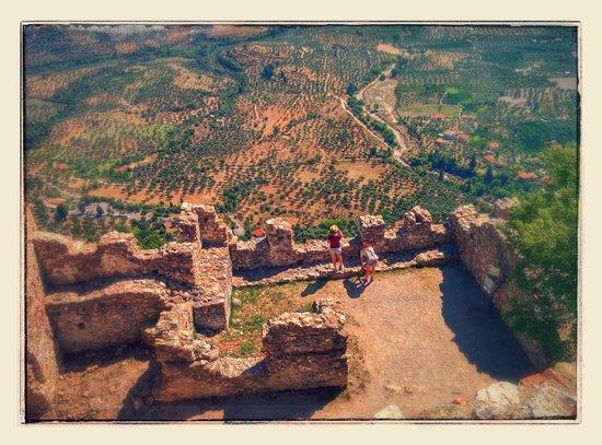 Mystras: Vue du haut de la citadelle