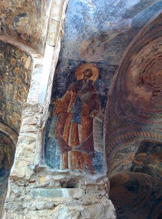 Mystras: Fresque de chapelle