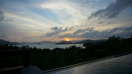 Sri Panwa Phuket Luxury Pool Villa Hotel: sunset View from our villa