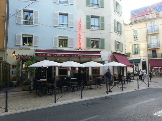 La Victoire: Looking at hotel from the square
