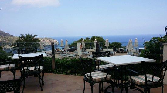 Hoposa Costa d'Or Hotel: Vue de la terrasse restaurant