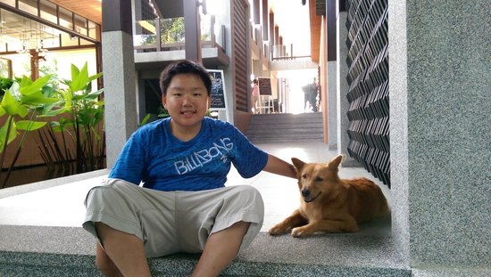Sri Panwa Phuket : with the friendly Sri Panwa dog