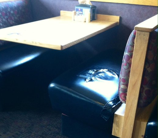 Old Country Buffet: Duct tape seats! Yuck :(