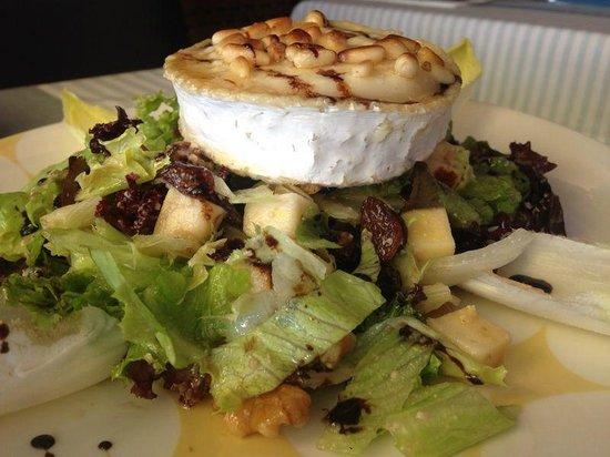 La vela : Ensalada queso de cabra