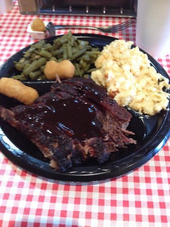 High Cotton NC BBQ: Brisket Plate.... More then enough food!!!