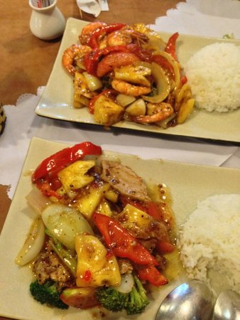 Chocolate Restaurant: sweet sour pork, sweet sour shrimp