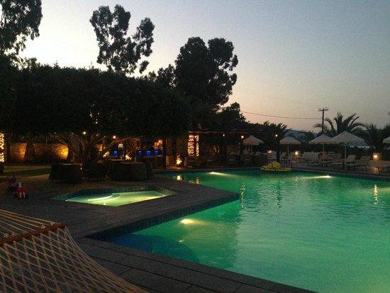 Elounda Palm Hotel: Bar en zwembad