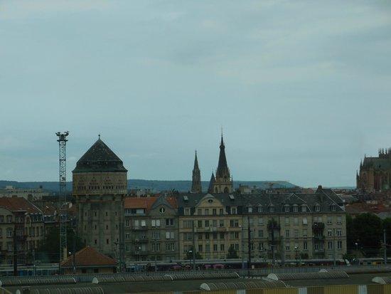 Centre Pompidou-Metz : Vue depuis le troisième étage