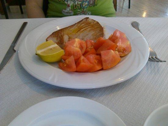 Hotel Felipe II: Atún a la plancha