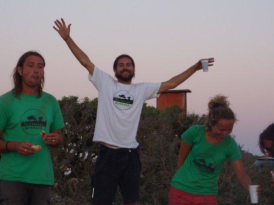 Jeep Safari Menorca : Pépé et une partie de son équipe