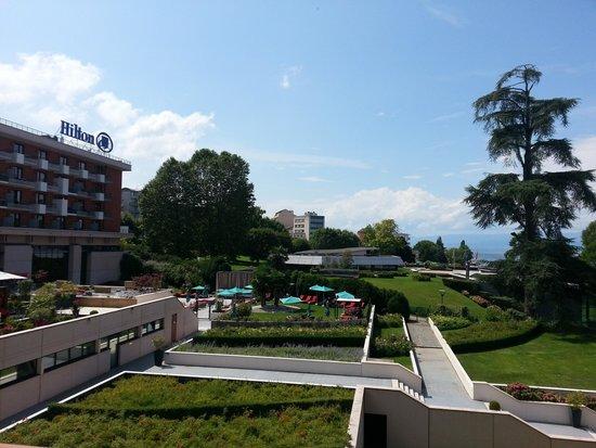 Hilton Evian-les-Bains: Vue de la chambre