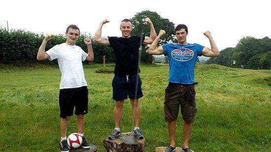 Cornwall Football Golf: The podium finished