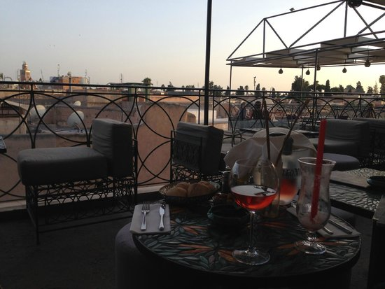 Cafe Arabe: drinks on the rooftop terrace