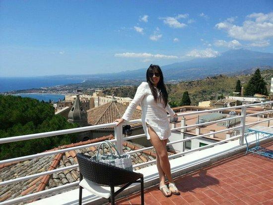 Hotel Continental : Vista Etna