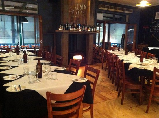Goodlife Organic Modern Pizza: Set up for our awards dinner