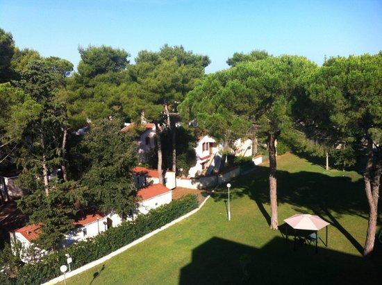 Hotel Adria: vue coté jardin
