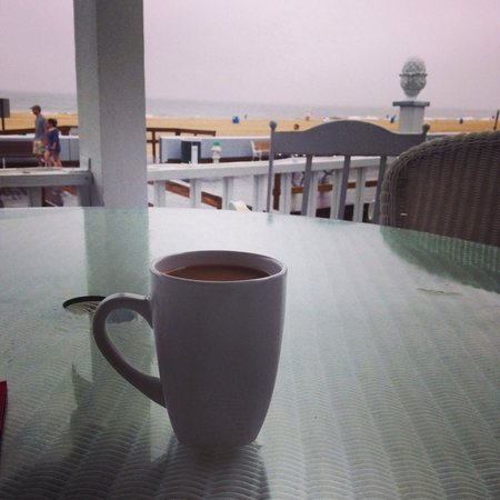 An Inn on the Ocean: Coffee on the porch