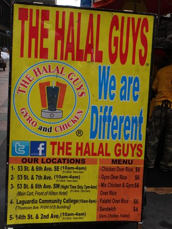 The Halal Guys: They have various locations