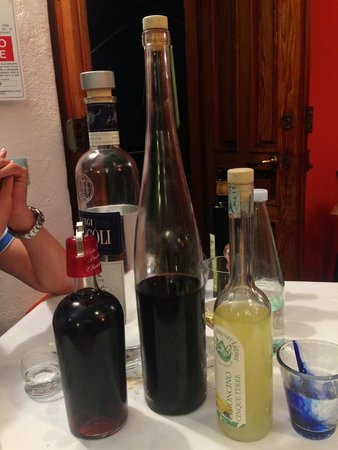 Trattoria Dal Billy: Complimentary drinks at the end of the meal