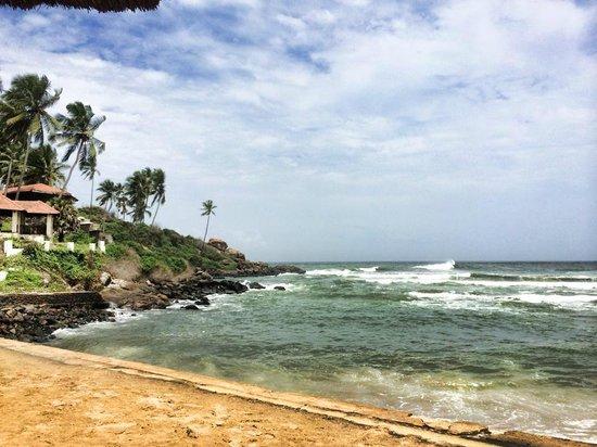 The Leela Kovalam Beach: from the beach shack