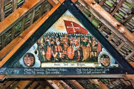 Chapel Bridge (Kapellbrucke): One of the bridge paintings
