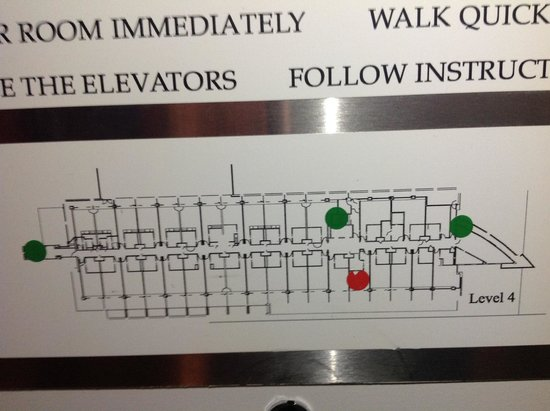 Hilton Auckland: Floor map