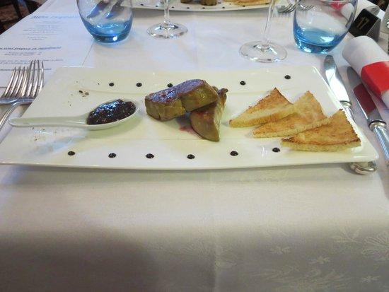 Romantik Hotel Du Parc : Voorgerecht gebakken Foie Gras