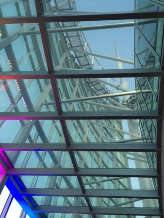 SkyPoint Observation Deck: Looking up at the Sky Climb