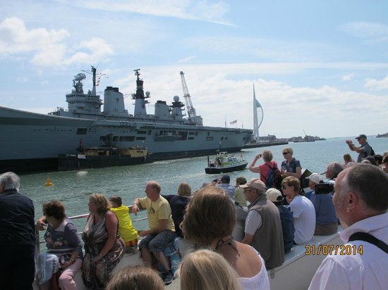 Portsmouth Historic Dockyard: On board the Harbour Trip boat