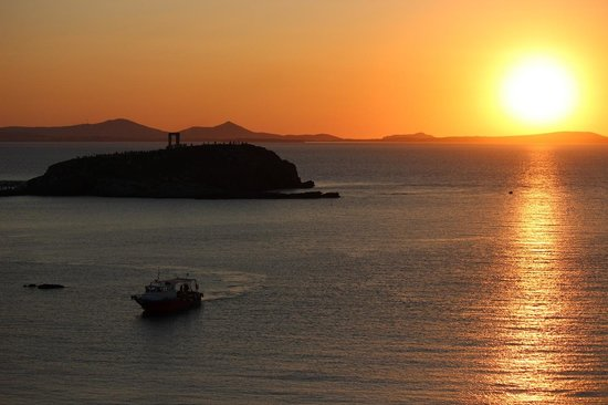 Hotel Grotta: Sunset from the hotel
