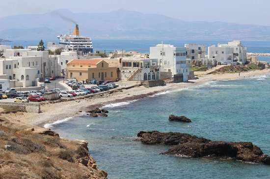 Hotel Grotta: Naxos town from the hotel